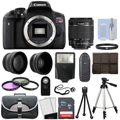 Canon T6i / 750D Digital SLR Camera + 3 Lens Kit 18-55mm STM