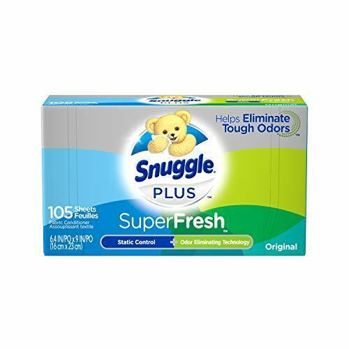 Snuggle Plus Super Fresh Fabric Softener Dryer Sheets with Static 105 Count