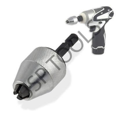 """For Makita-Dewalt IMPACT DRIVER 1/4"""" Keyless Drill Bit Chuck Adapter GREAT KIT !"""