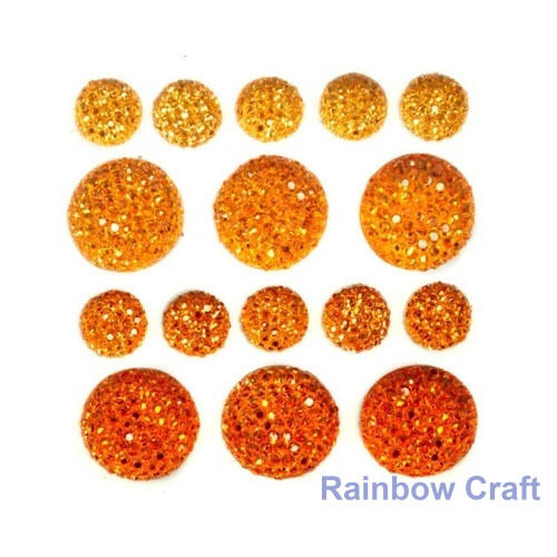 kaisercraft Bling Sparklets / Self Adhesive Rhinestones crystal ebony hearts - Saffron