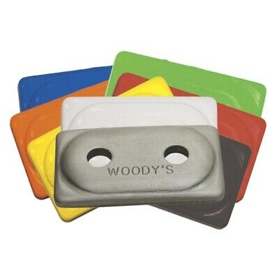Woody's Traction Double Digger Aluminum Support Plates White - 48 Pack