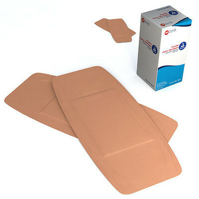 Dynarex Flexible Fabric Bandages - 50 Dynarex Fabric Bandages 2 x 4.5 Box Sterile Non-Stick Pad Band Aid Cut 3614