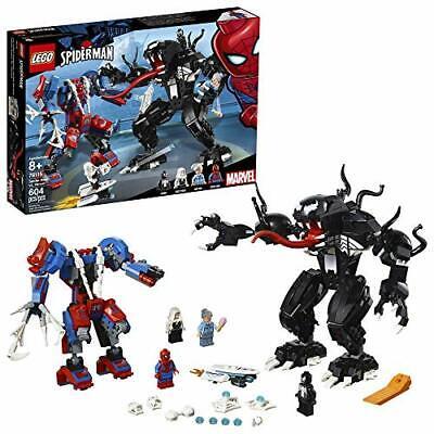 LEGO Super Heroes Marvel Spider Mech Vs. Venom 76115 Action Toy Building Kit ...