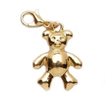 NEW  TEDDY BEAR BABY CHARM LOBSTER CLASP CHARM BRACELET PURSE COSTUME JEWELRY Baby Teddy Bear Bracelet