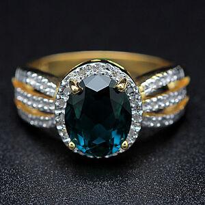 Ladies Diamond and Topaz Ring (NEW)