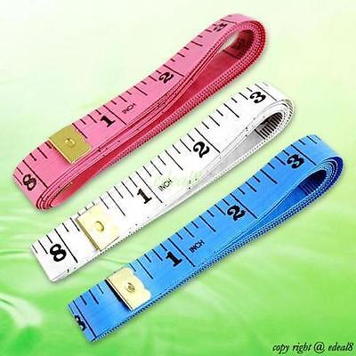 """3 x 60"""" 150cm Soft Flat Plastic Measuring Tape Ruler Tailor Sewing Seamstress"""