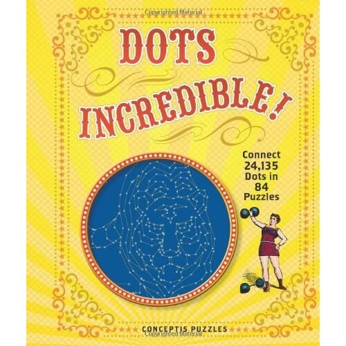 Dots Incredible Dot to Dot Book Adult Colouring Puzzle People Animals Landscapes