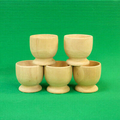 Fathers Day Crafts For Kids (Wooden Egg Cups (X 5) - to decorate - Children Crafts  Kids FATHERS)