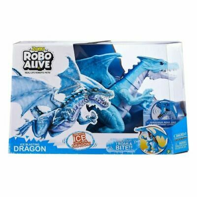 Zuru Robo Alive Real Life Robotic Pets! Roaring Ice Dragon Battery Powered Toy