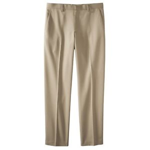 Men's Tailored Fit Herringbone Microfiber Pants