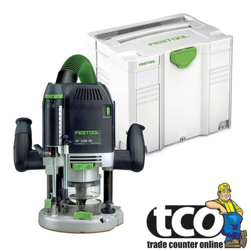Festool OF 2200 EB-Plus GB 110V Plunge Router in Systainer SYS 4 T-LOC - 574353