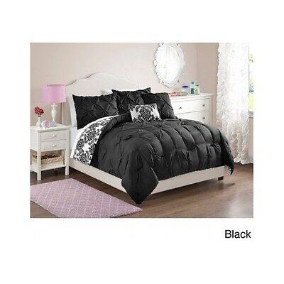 Bedroom Comforter Set 5Piece Reversible Full Queen Twin Teen Girls Dorm Guest  5 Piece Queen Bedroom
