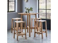 Hudson Living Kielder Bar Table Setoak Oak , Brand New set- rrp £1199