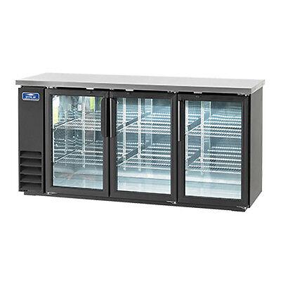Arctic Air Abb72g 84 6-pk Can Capacity Back Bar Refrigerator Glass Door