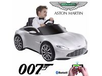Aston Martin ride on car with smartphone controller