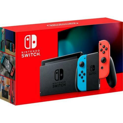 Nintendo Switch 32GB Console w/ Neon Blue & Neon Red Joy Con
