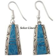 Denim Lapis Earrings