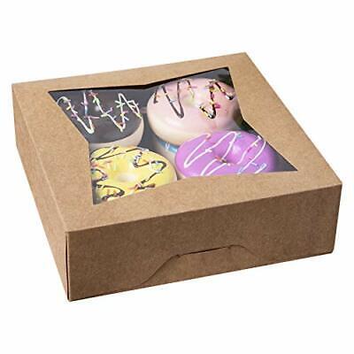 15pcs8brown Bakery Pie Boxesone More Kraft Cardboard Cookie Box With Window