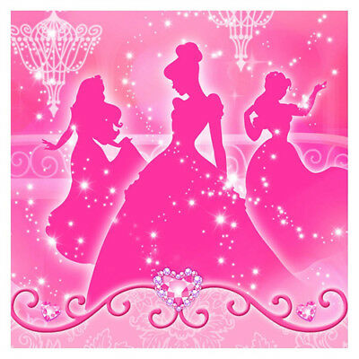 DISNEY VERY IMPORTANT PRINCESS LUNCH NAPKINS (16) ~ Birthday Party Supplies Pink