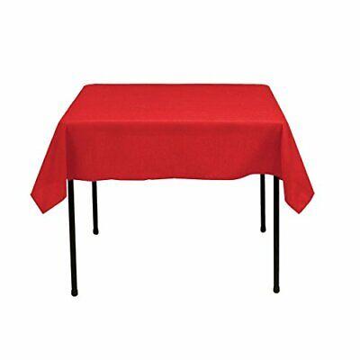 Gee Di Moda Square Tablecloth - 52 x 52 Inch - Red Square Table Cloth for Square](Red Table Cloth)