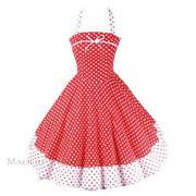 Kleid Rot Weiß 38