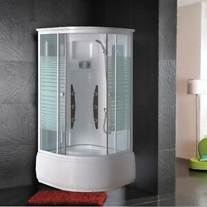 Cabina Idromassaggio 90x90x205 cm Box doccia con Vasca 6 idrogetti multifunzi...