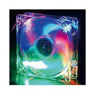 Evercool 92mm x 25mm 4 Color LED Case Fan Red Green Blue Orange (Orange Case Fan)