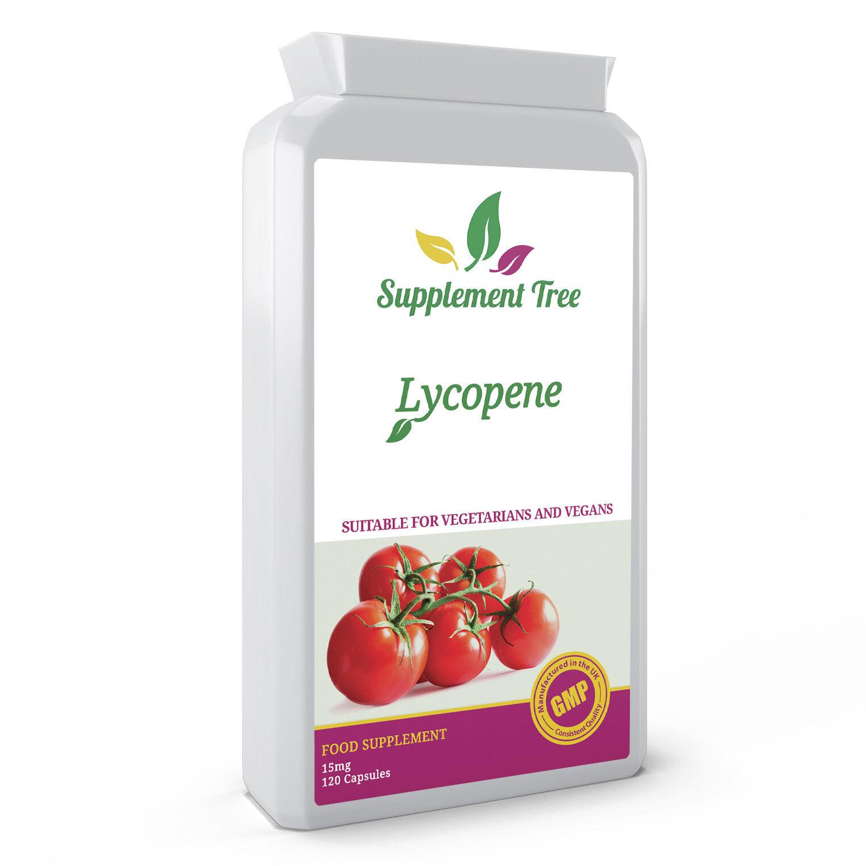 Lycopin 15mg 120 Kapseln Stark Antioxidant Hergestellt in UK Gmp