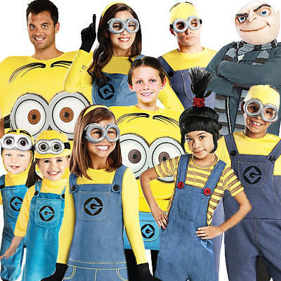 Despicable Me Adults Fancy Dress Minions Gru Agnes Childrens Boys Girls Costumes (Agnes Gru Costume)