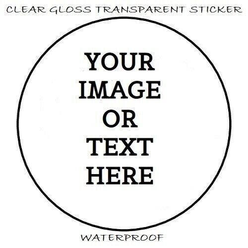 """48 CUSTOM PERSONALIZED CLEAR ENVELOPE SEALS LABELS STICKERS PARTY FAVORS 1.2"""""""