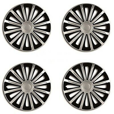 "15"" Black & Silver Wheel Trims Set Of 4 for Vauxhall Vectra Zafira Viva Vivaro"