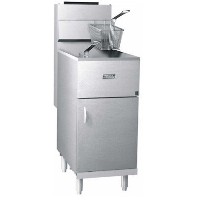 Photo Pitco Frialator 40S Commercial Natural Gas Fryer, Economy 40-45 lb. Oil Capacity