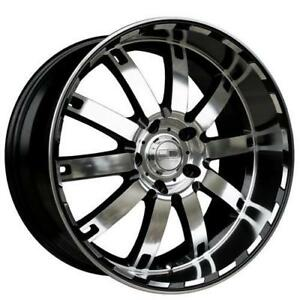 **PROMOTION** MAGS NEUFS 20 5 X 120 HD WHEEL AUTOBAHN GLOSS BLACK/MIRROR POLISH