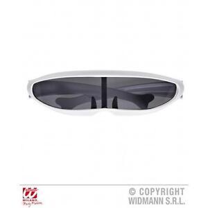 Blanco-Cyber-Robot-Gafas-Gafas-de-sol-futurista-Disfraz-Utileria-Accesorio
