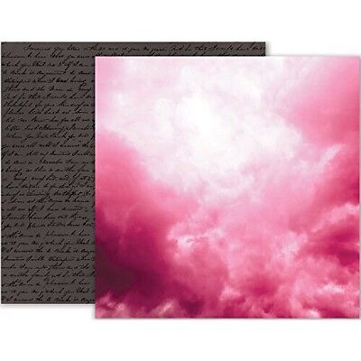 Pink 12x12 Cardstock (Pink Paislee: 12x12 Moonstruck #07 Double-Sided Cardstock)