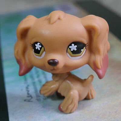 "LPS #716 Action Figure gift Brown Eyes Cocker DOG RARE TOY 2"" LITTLEST PET SHOP"