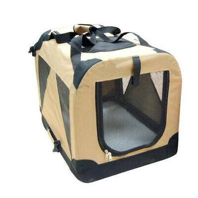 Transportin plegable caseta loneta Cargo portatil camel mediano 70x52x52 cm