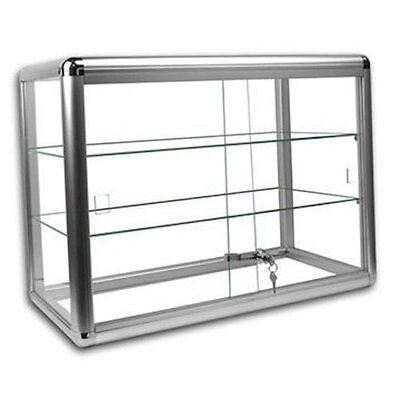 Only Hangers Elegant Silver Anodized Aluminum Countertop Showcase