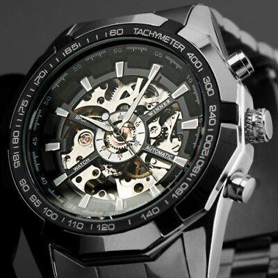 HERREN UHR Luxus Watch Analog Automatikuhr Edelstahl Armbanduhr Geschenk TM340
