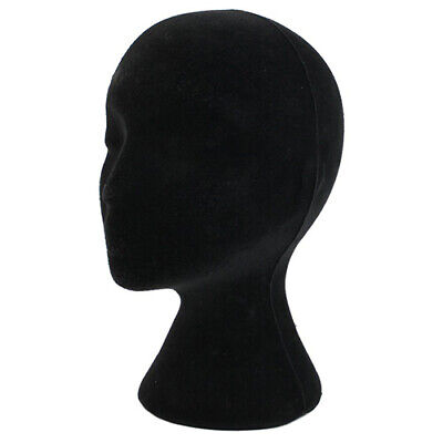 Male Men Black Styrofoam Foam Mannequin Manikin Head Stand Hat Headphones Wig Us