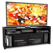 Glass Black Entertainment Center