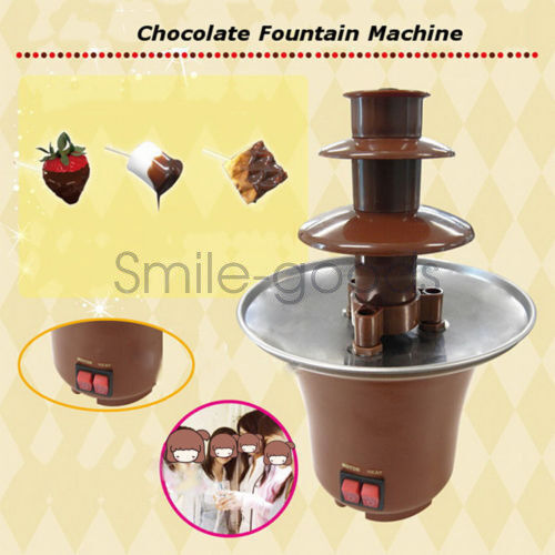 Chocolate Fountain Machine Waterfall Fondue Tower Party Deco