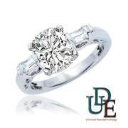 3 Stone Cushion Cut Diamond Ring