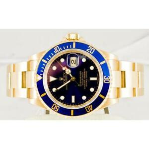 Gold Rolex Submariner Blue Face