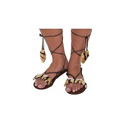 Cave Girl Stone Age Women's Sandals Costume Accessory