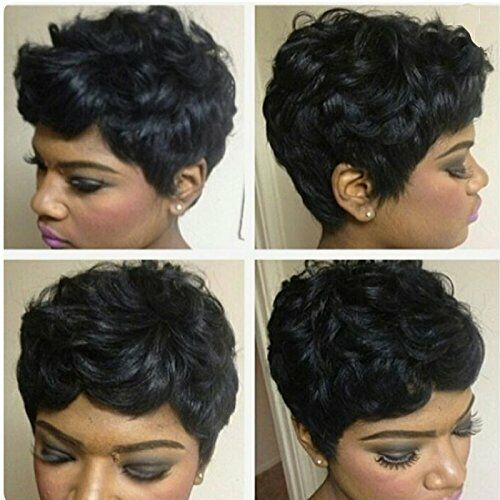7 Short Wigs For Black Women Natural Curly Hair Pixie Cut Human Hair Wig For Sale Online Ebay