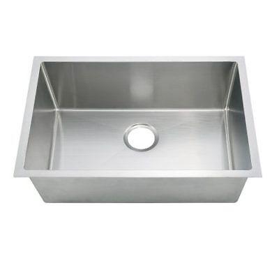 Undermount Kitchen Set 23x18x9 Handcrafted W/ Small Radius Corners W/Strainer