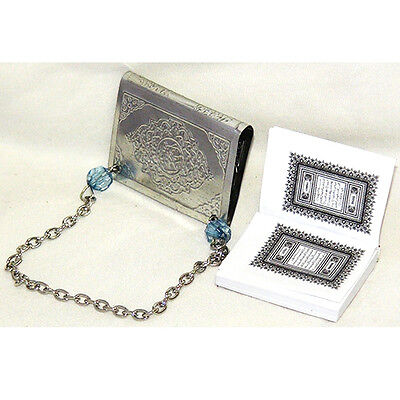 FREE SHIP Holy Quran Allah Islamic Car Hanging Muslim Smallest Quran Silver