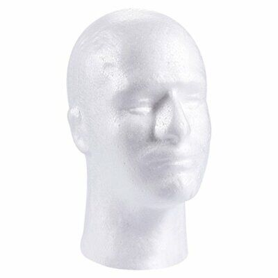 Craft Foam Wig Head - Man Mannequin Wig Holder Stand For Displaying Hat Mask C