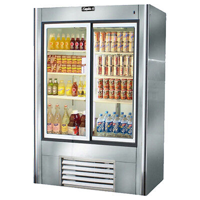Leader Ls48 48x30x75-inch Refrigerated Soda Merchandiser Double Sliding Glass